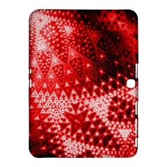 Red Fractal Lace Samsung Galaxy Tab 4 (10 1 ) Hardshell Case
