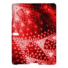 Red Fractal Lace Samsung Galaxy Tab S (10 5 ) Hardshell Case