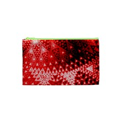 Red Fractal Lace Cosmetic Bag (xs)