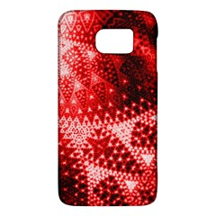 Red Fractal Lace Samsung Galaxy S6 Hardshell Case