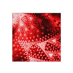 Red Fractal Lace Satin Bandana Scarf