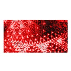 Red Fractal Lace Satin Shawl