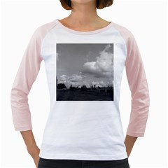 Abandoned Women s Long Cap Sleeve T-Shirt (White)