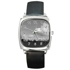 Abandoned Square Leather Watch
