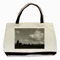 Abandoned Twin Sided Black Tote Bag