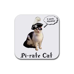 Pi Rate Cat Drink Coaster (square)
