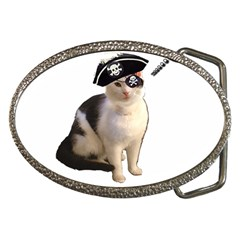 Pi Rate Cat Belt Buckle (oval)