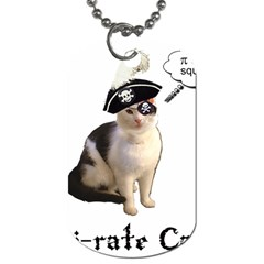 Pi Rate Cat Dog Tag (two Sided)