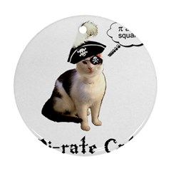 Pi Rate Cat Round Ornament (two Sides)