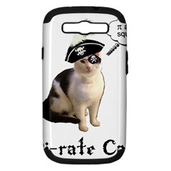 Pi Rate Cat Samsung Galaxy S Iii Hardshell Case (pc+silicone)