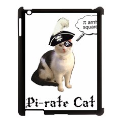 Pi Rate Cat Apple Ipad 3/4 Case (black)