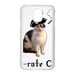 Pi Rate Cat Samsung Galaxy S5 Case (white)