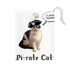 Pi-rate Cat Drawstring Pouch (Large)