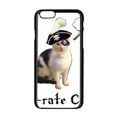 Pi-rate Cat Apple iPhone 6 Black Enamel Case