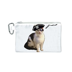 Pi-rate Cat Canvas Cosmetic Bag (Small)