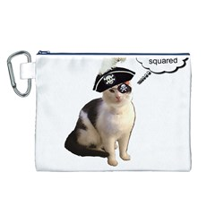 Pi-rate Cat Canvas Cosmetic Bag (Large)