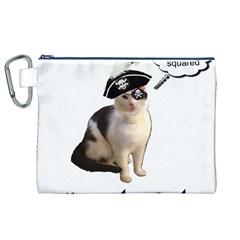 Pi-rate Cat Canvas Cosmetic Bag (XL)