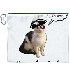 Pi-rate Cat Canvas Cosmetic Bag (XXXL)