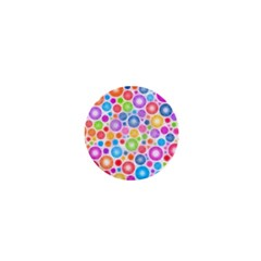 Candy Color s Circles 1  Mini Button