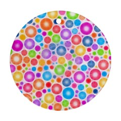 Candy Color s Circles Round Ornament