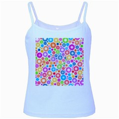 Candy Color s Circles Baby Blue Spaghetti Tank