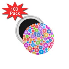 Candy Color s Circles 1 75  Button Magnet (100 Pack)