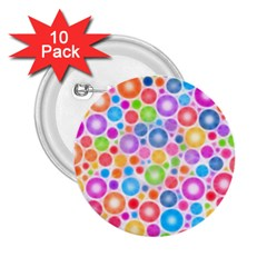Candy Color s Circles 2 25  Button (10 Pack)
