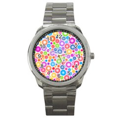 Candy Color s Circles Sport Metal Watch