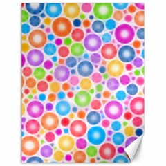 Candy Color s Circles Canvas 18  X 24  (unframed)
