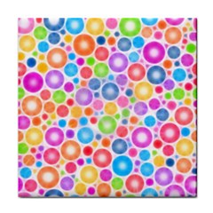 Candy Color s Circles Face Towel