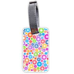 Candy Color s Circles Luggage Tag (one Side)