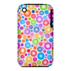 Candy Color s Circles Apple Iphone 3g/3gs Hardshell Case (pc+silicone)