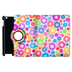 Candy Color s Circles Apple Ipad 3/4 Flip 360 Case
