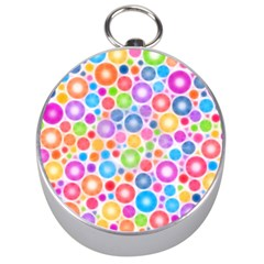 Candy Color s Circles Silver Compass