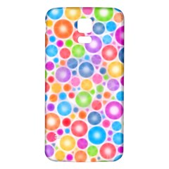 Candy Color s Circles Samsung Galaxy S5 Back Case (White)
