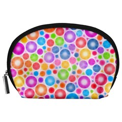Candy Color s Circles Accessory Pouch (Large)