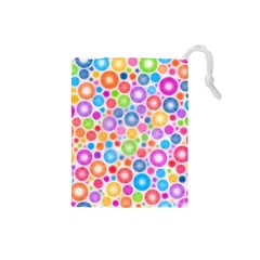Candy Color s Circles Drawstring Pouch (Small)
