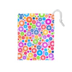 Candy Color s Circles Drawstring Pouch (Medium)