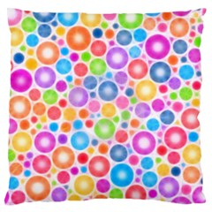 Candy Color s Circles Large Flano Cushion Case (Two Sides)