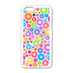 Candy Color s Circles Apple Iphone 6 White Enamel Case