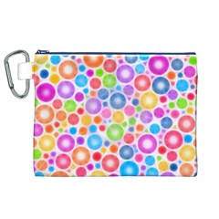 Candy Color s Circles Canvas Cosmetic Bag (XL)