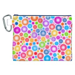 Candy Color s Circles Canvas Cosmetic Bag (XXL)