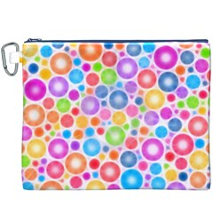 Candy Color s Circles Canvas Cosmetic Bag (XXXL)