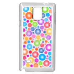 Candy Color s Circles Samsung Galaxy Note 4 Case (white)