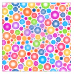 Candy Color s Circles Large Satin Scarf (Square)