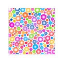 Candy Color s Circles Small Satin Scarf (square)