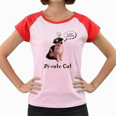 Pi-rate cat Women s Cap Sleeve T-Shirt (Colored)