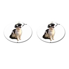 Pi Rate Cat Cufflinks (oval)
