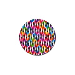 Rainbow Psychedelic Waves Golf Ball Marker 10 Pack