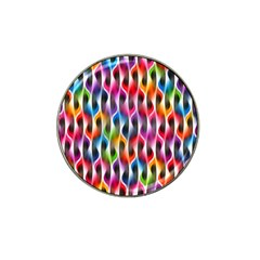 Rainbow Psychedelic Waves Golf Ball Marker 4 Pack (for Hat Clip)